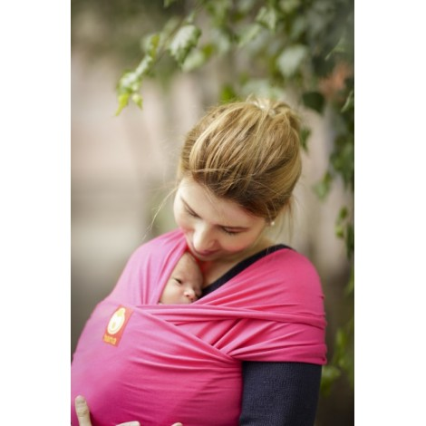 Echarpe Hana baby wrap English rose 48%coton, 48% bambou, 4% lycra