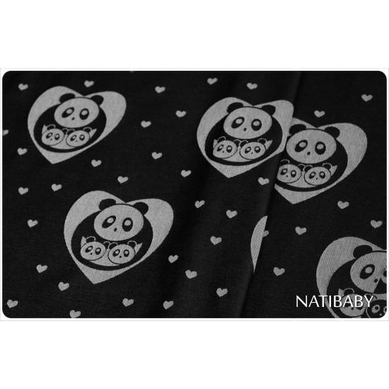 Tissu d'écharpe Pandas Natibaby 20% chanvre
